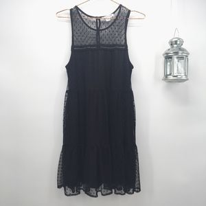 Love Riche Black Lace and Tulle Shift Dress